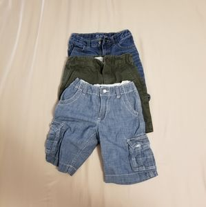 Lot of 3 pairs of boys shorts. Size 5T, 4, and 6.